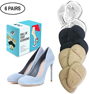 Ball of Foot Cushions 6 Pairs Foot Pads (12 Pieces) | Premium Metatarsal Pads for Women High Heels | Shoe Cushion Inserts for Pain Relief from Neuroma, Callus, and Bunions by BelugaCare