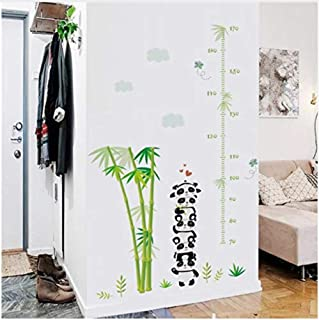 Wall Stickerzoo Forest Animals Bamboo Height Measure Growth Chart Wall Stickers for Kids Rooms Wall Decals Poster Art Mural