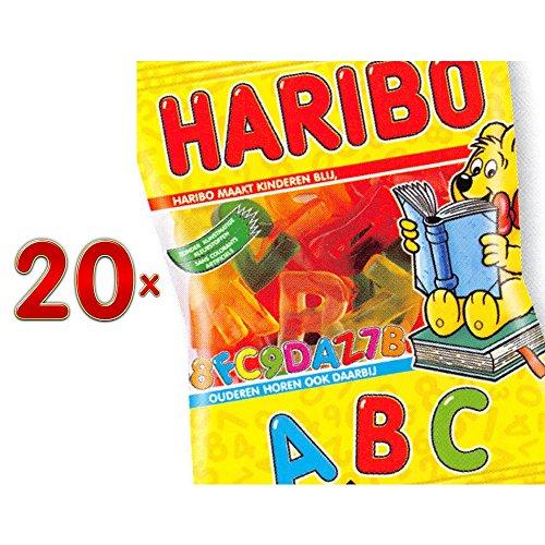 Haribo Lettre A.B.C. Sachet 20 x 200g Packung (Fruchtgummi als Buchstaben)