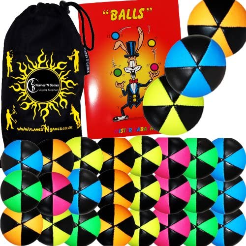 3x Flames N Games Atlanta Mall ASTRIX UV Thud Balls specialty shop Juggling Choic 3. of Set