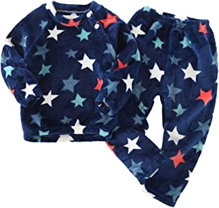 Conjuntos de Pijamas para Niño y Niña, Felpa Ropa de Dormir Dos Piezas Manga Larga T-Shirt + Pantalones Largos Casual Ropa...
