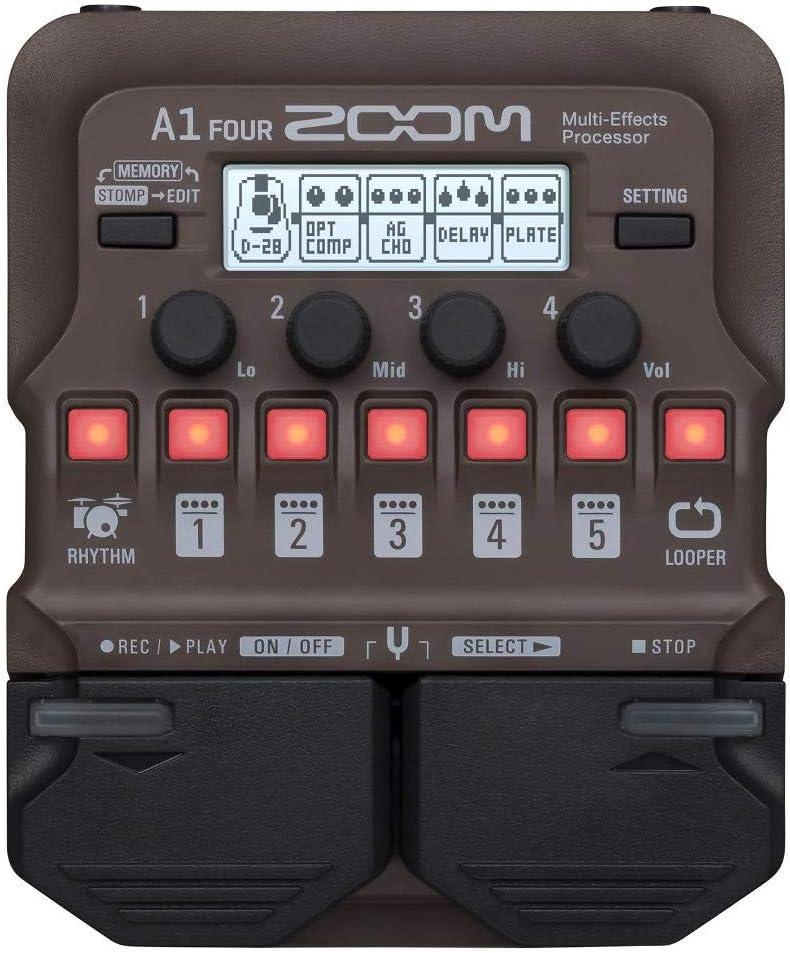 Zoom A1 - Pedal de efectos para guitarra acústica