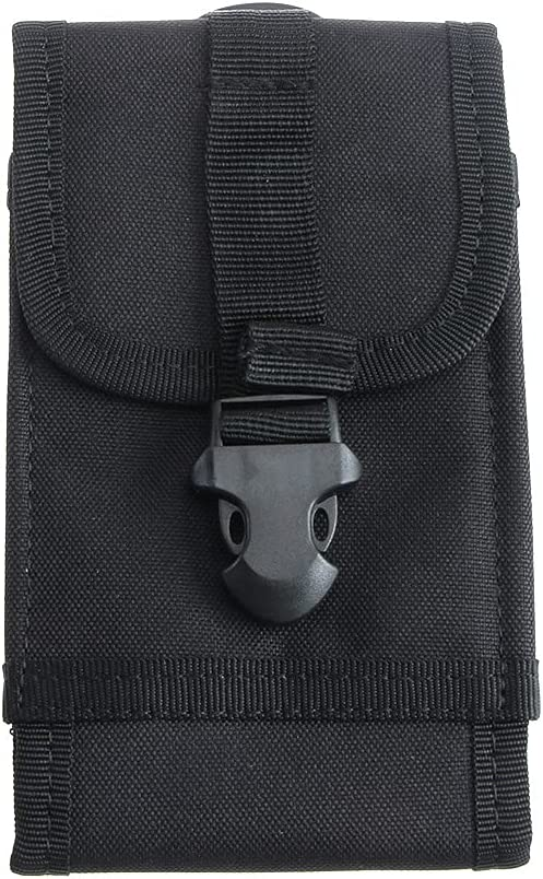MAXGOODS Tactical Molle Military Pouch Smartphone Holster,Universal Mobile Phone Belt EDC Security Pack Carry Cell Phone Holder Accessory for iPhone Samsung Galaxy Note (Black)