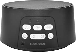 Unite Stone White Noise Machine Sleep Sound, High Quality Speaker with 24 Unique Sounds and 3 Time Indicator