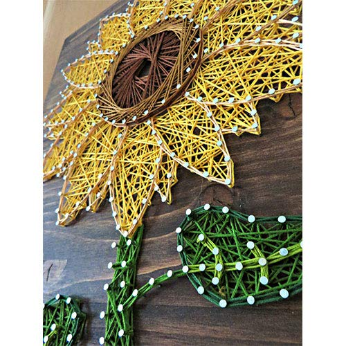 DIY String Art Kit | Sunflower String Art | Craft Kit for Adults | DIY Crafts | Sunflower Decor | Wall Art | Wall Hanging | DIY Kit | Christmas Gift