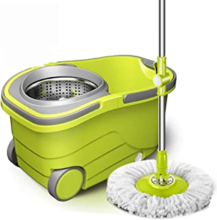 Spinning Mop and Bucket Cleaning Set-360 Degree Spinning with 3 Mop Heads