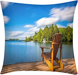 Custom Soft Wrinkle-Resistant Throw Pillow Cottage Life Muskoka Chair Design for Sofa Bedroom Office Car Decorate Pillow