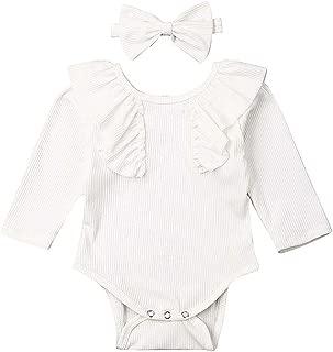Newborn Infant Baby Girls Floral Romper Bodysuit Sunsuit Jumpsuit Outfits Clothes + Headband