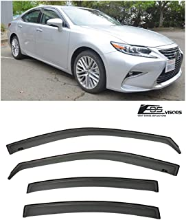 Extreme Online Store Replacement for 2013-2018 Lexus ES-Series | EOS Visors in-Channel Style Smoke Tinted JDM Side Window Vents Rain Guard Deflectors ES300H ES350