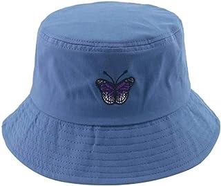 Achket دلو القبعات للجنسين أزياء الصيف عكس فراشة التطريز دلو قبعة الصياد قبعات الشمس كاب