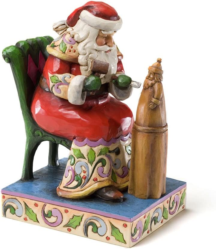 Oklahoma City Mall Enesco Jim Shore Heartwood Creek Carving 67% OFF of fixed price Santa from Figuri