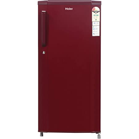 Haier 190 L 2 Star Direct-Cool Single Door Refrigerator (HED-19TBR, Burgundy Red)