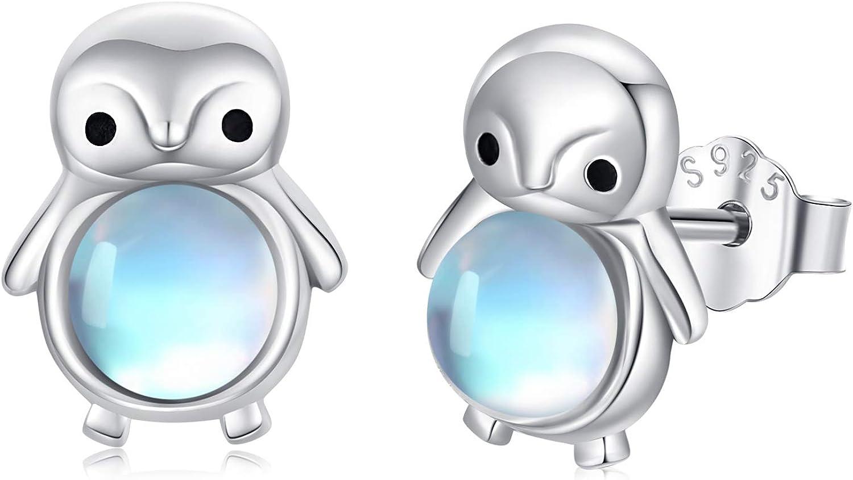 excellence Moonstone Gifts Earrings for Women Star S92 Evil Penguin Moon Eye