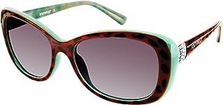 Southpole Women's 242sp-anbl 242SP ANBL Cateye Sunglasses, Animal/ Blue, 58 mm