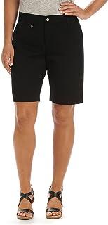 Lee Women's Comfort Fit Jude Bermuda Short, Black, 6