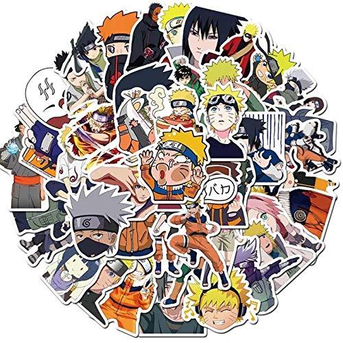 Naruto Naruto Sasuke Equipaje Portátil Agua Copa Casco Anime Impermeable 50pcs