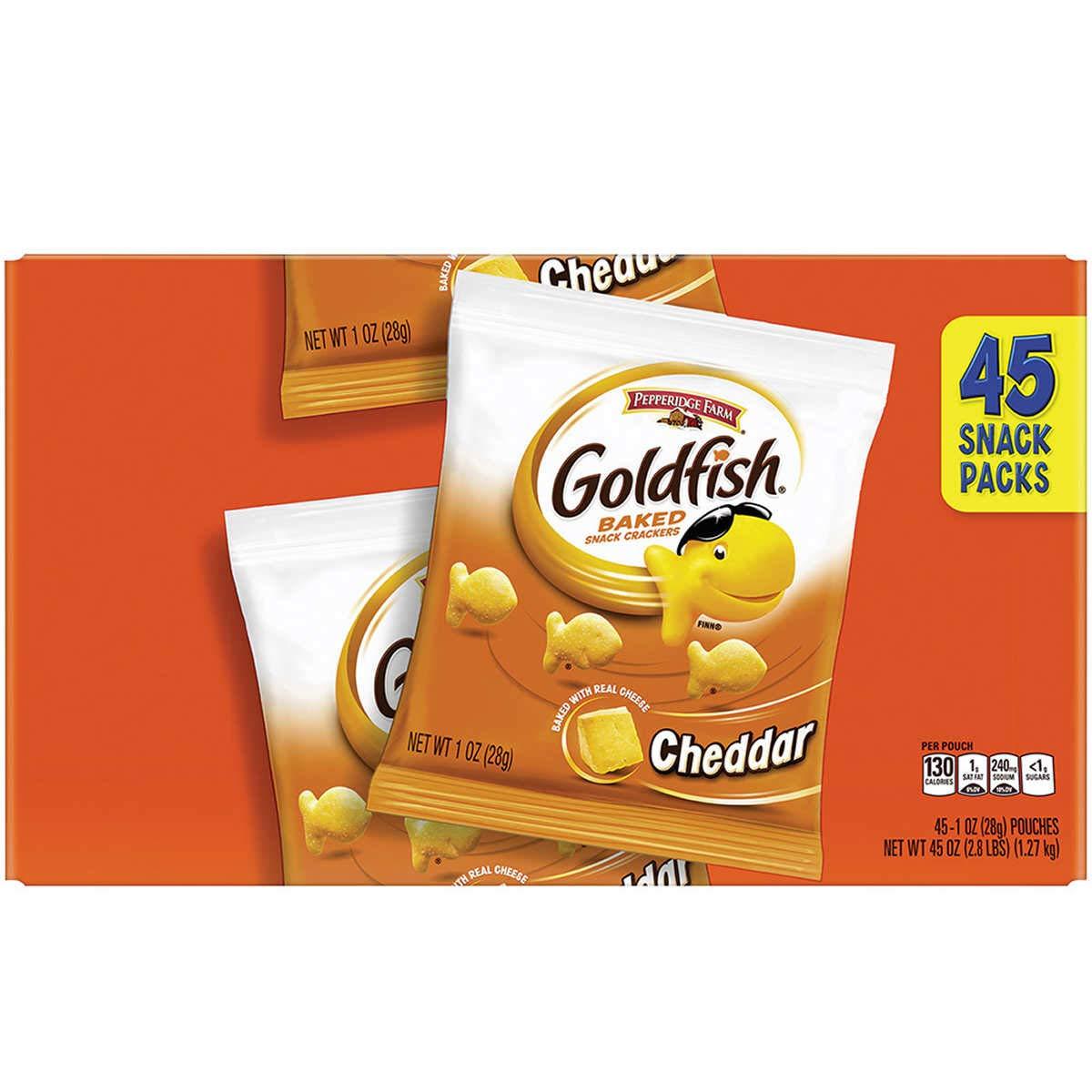 Pepperidge Long-awaited Farm 45ct Goldfish Cheddar supreme E Crackers 1oz Snack Baked