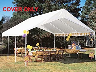 20 ft. Canopy Replacement Drawstring Cover in White 764808