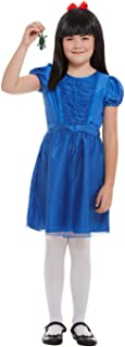 Smiffys 50273L Officially Licensed Roald Dahl Deluxe Matilda Costume, Girls, Blue, L - Age 10-12 years