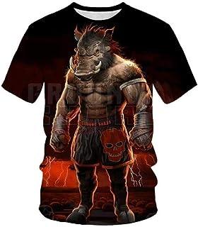 Impresión De Boxeador De Jabalí De Dibujos Animados Camiseta Gráfica De Verano 3D De Manga Corta Unisex Moda Casual Pullover Tees Slim Fit tee Shirts