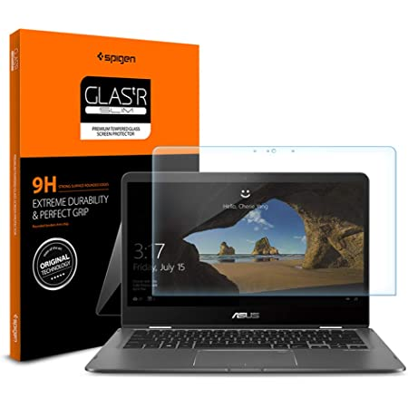 9H Glass Protection upscreen Hybrid Glass Screen Protector compatible with Asus Zenbook Flip 14 UM431DA