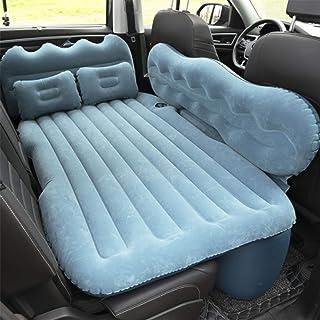 Cama hinchable de viaje para coche asiento de aire colch/ón hinchable para coche con almohada para cama coche c/ómoda colch/ón hinchable de viaje con bomba pr/áctica para viajar.