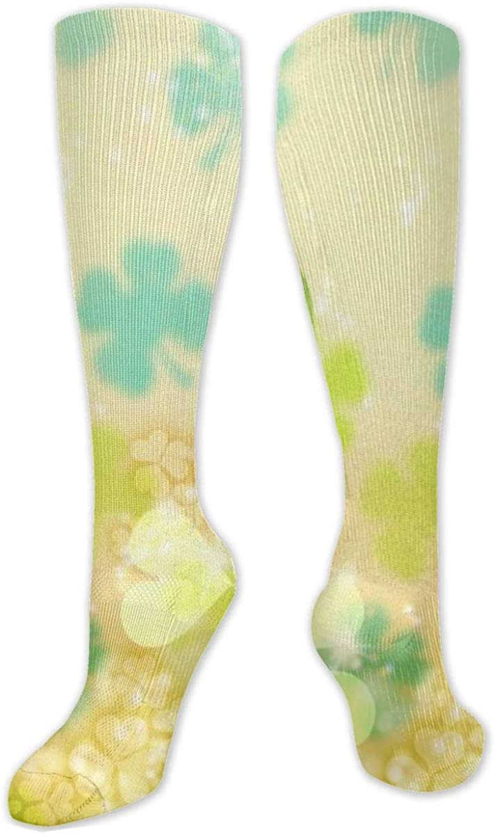 Bright Clover Knee High Socks Leg Warmer Dresses Long Boot Stockings For Womens Cosplay Daily Wear