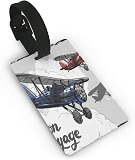 Retro Airplane Poster Inspired Bon Voyage Lets Travel Fly Luggage Tags