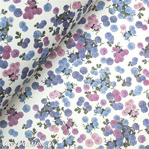 Tassotti Tassotti-Papier mit kleinen Blumenmotiven, violett, 85 g/m²
