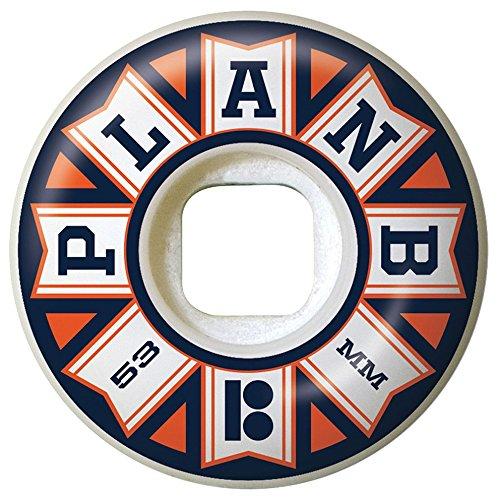 Plan B Team Flags-Set di 4 ruote, 53 mm, colore: arancione