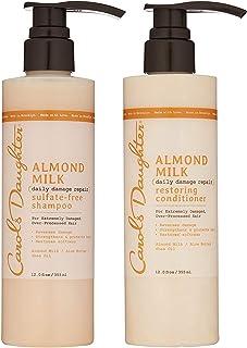 شامپو و تهویه مطبوع روزانه خسارت وارده به روز شده برای دختران کارول ، برای موهای آسیب دیده ، شامپو و ترمیم کننده نرم کننده مو با شی و آلوئه (بسته بندی ممکن است متفاوت باشد)