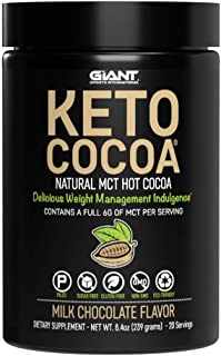 Keto Cocoa - Delicious Sugar Free Hot Chocolate Mix with 6g of MCTs for Appetite Suppressing Ketogenic Diet...