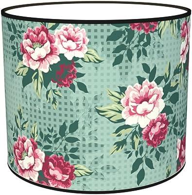 Abat-jours 7111309537104 Imprimé Rosy Lampe de Chevet, Tissus/PVC, Multicolore