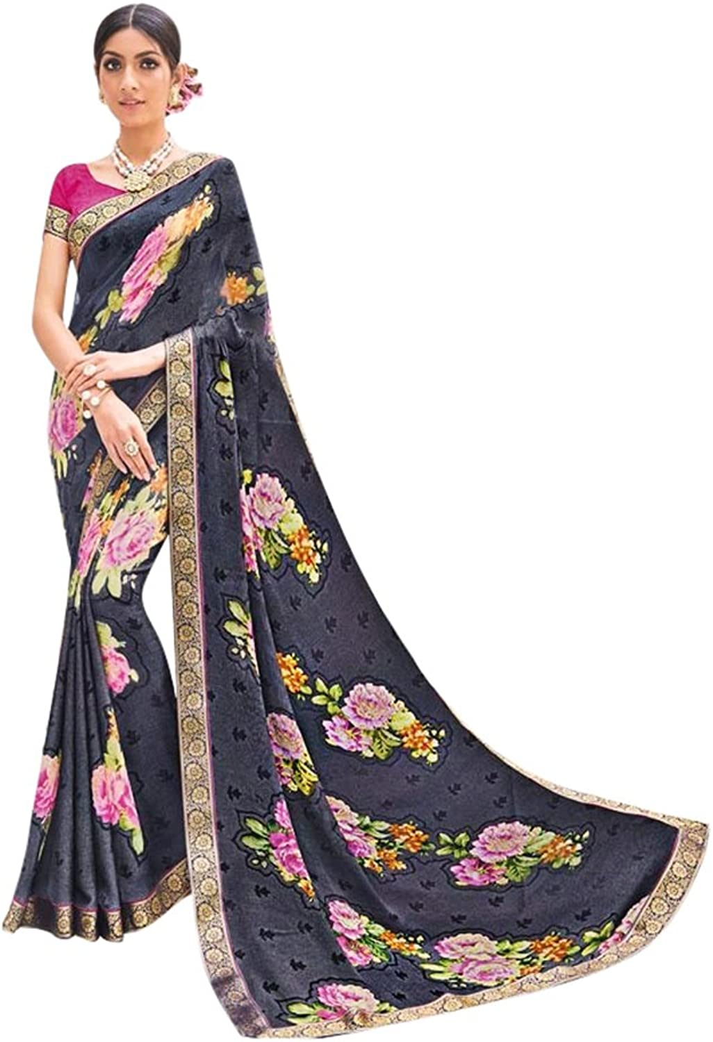 New Launch Formal Indian Saree Sari Collection Blouse Wedding Party Wear Ceremony Women Muslim eid 647 19