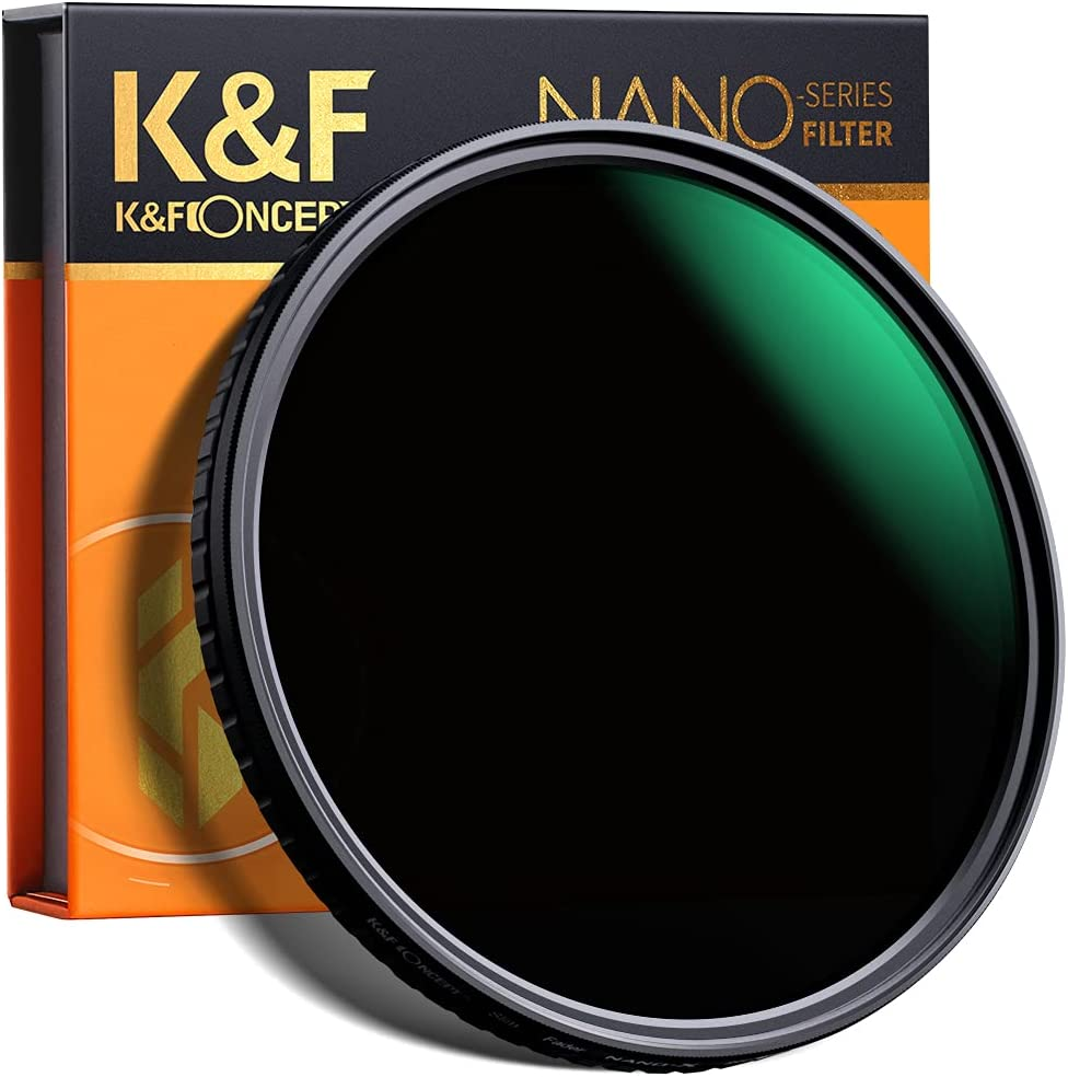 K&F Concept 72mm Variable Neutral Density Filter ND8 to ND128 Slim Fader ND Filter 3 Stop to 7Stop for Camera Lens NO X Spot,Nanotec Ultra-Slim Weather Sealed