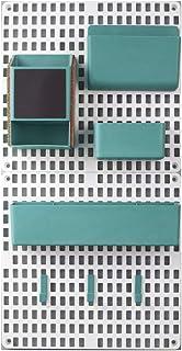 RK-HYTQWR Support Mural Pegboard Combinaison Accueil Cuisine Rangement Étagères Organisateur Fourniture, Panneau de Tentur...