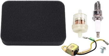 Kizut 17211-899-000 Air Filter for Honda GX390 GX340 GX270 GX240 Engine EB5000 EB5000X EB3500 EB3000 EM4000 EW140 EW170 EW171 Generator w Spark Plug Low Oil Alert Sensor Parts Kit