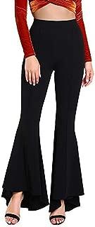 Women Trousers Flare Pants Wide Leg Bell Bottoms Style High Waist Pants