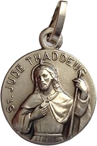 Igj Medalla de San Judas Tadeo de Plata Maciza 925 - Patrón de Casos Imposibles