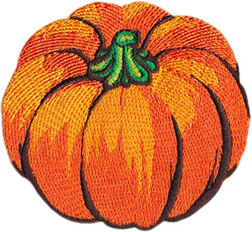 Classic Pumpkin - 3' Embroidered Iron on Patch