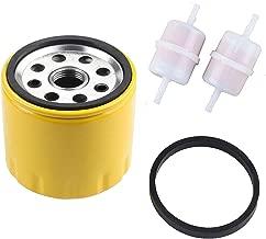Podoy KH-52 050 02-S Engine Oil Filter for Kohler CH11 CH15 CV11 CV22 M18 - M20 MV16 - MV20 K582 with 24 050 13-S Fuel Filter Briggs Stratton 491056 Extra Capacity