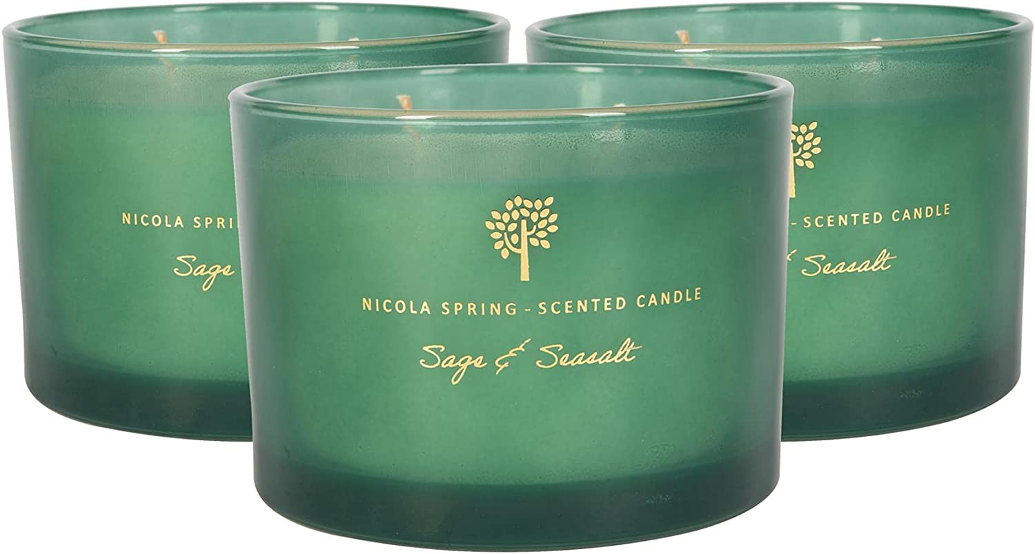 Nicola Spring Soy Wax Scented Candles Challenge the lowest price of Japan Aromatherapy - Glass Max 67% OFF Gift