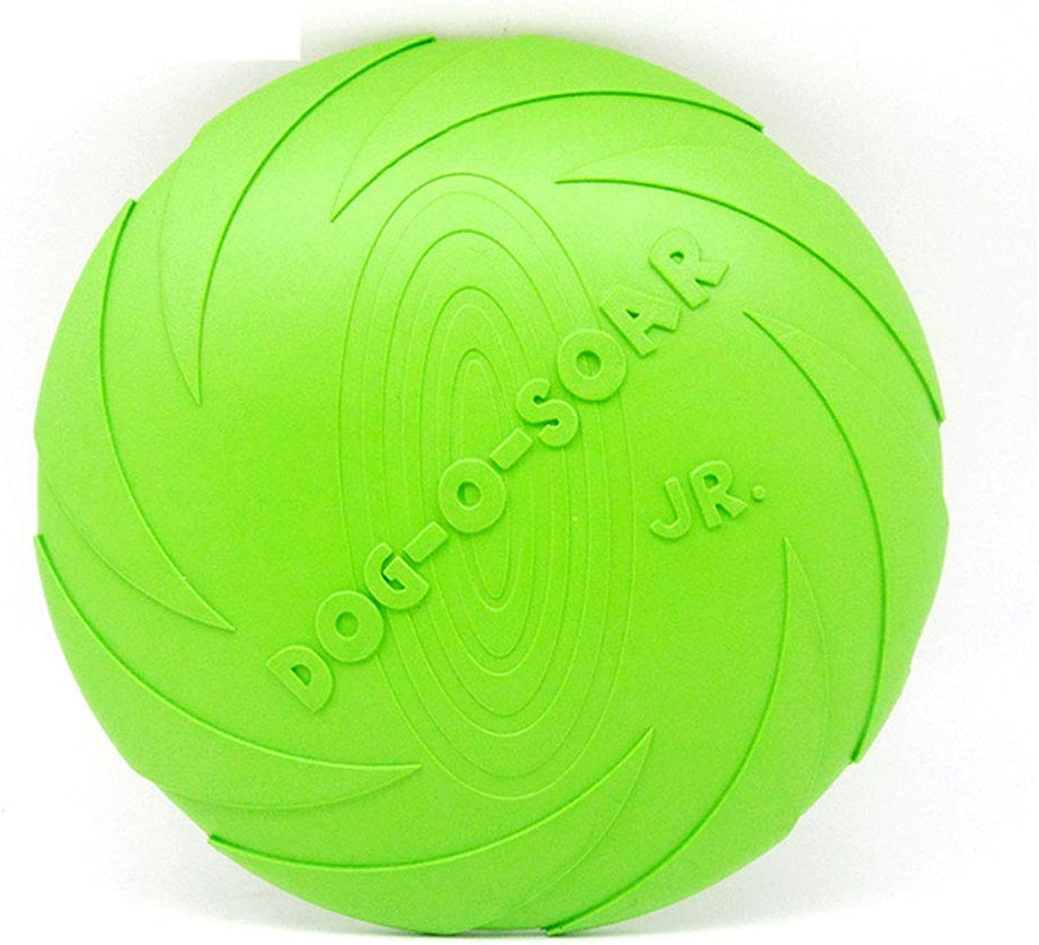 Dog Flying Disc Frisbees Pet Flying Saucer Rubber Floating Water Dogs Toy Outdoor Training Interactive for Little Medium Dogs,Green(L)