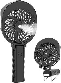 HandFan Ventilador portátil Agua Ventilador de Mano Mini Ventilador eléctrico Personal con batería Recargable/Ventilador de Mano Plegable para Oficina/Hogar/Viajes/Exterior