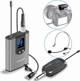 هدست بی سیم سیستم میکروفون Lavalier -Alvoxcon Micro-Lapel Wire Best برای iPhone ، دوربین DSLR ، بلندگو PA ، یوتیوب ، پادکست ، ضبط ویدیو ، کنفرانس ، Vlogging ، کلیسا ، مصاحبه ، آموزش