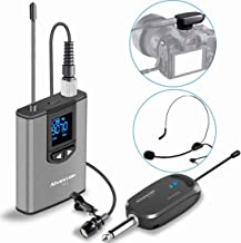 Wireless Headset Lavalier Microphone System -Alvoxcon Wireless Lapel Mic Best for IPhone,..