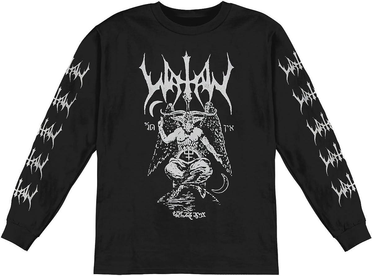 Watain - Charlotte Mall Mens Max 83% OFF Baphomet Sleeve T-Shirt Long Longsleeve