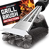 Alpha Grillers Grill Brush and Scraper. Best BBQ Cleaner. Perfect Tools for All Grill...