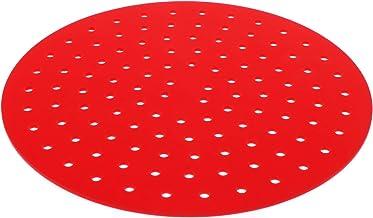 Cabilock 1 peça de tapete de silicone antiaderente para fritadeira a ar (redondo 7,5 cm)