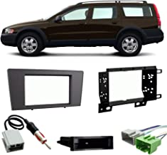 Compatible with Volvo XC70 2003-2004 Single or Double DIN Stereo Harness Radio Install Dash Kit